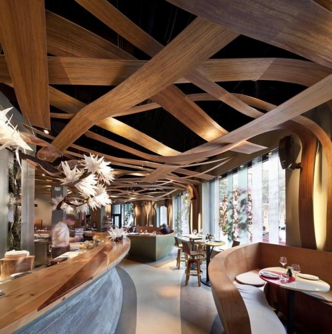 lamelle bois restaurant