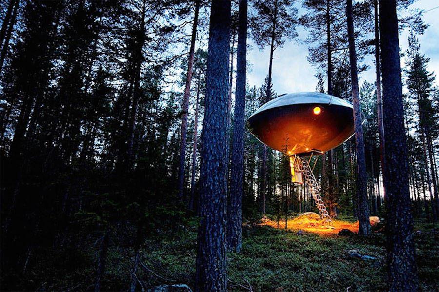 hôtel UFO suède