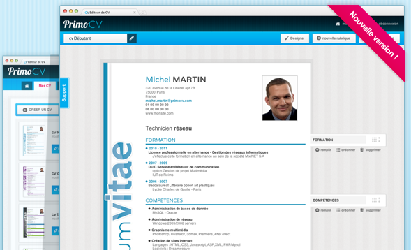 creer cv en ligne design
