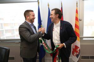 Renaud Muslier et son homologue Hongrois qui ont tous deux porté le projet de création du label