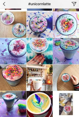 Unicorn Latte : la tendance Insta 2017