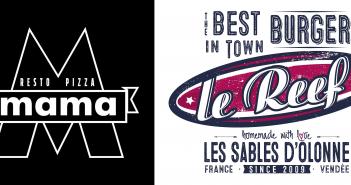 Logos du Reef et du Mama - Restaurants aux Sables d'Olonne en Vendée