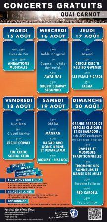 Le programmes des Filets Bleus 2017
