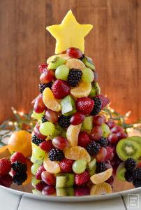 Recette de sapin de Noel avec des fruits