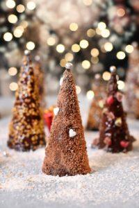 Recette de sapin de Noël sous forme de cone au chocolat