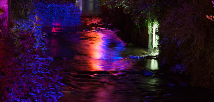 L'Aven éclairé par les lumières de Jean-Pol Gloaguen