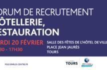 Bannière forum Hôtellerie Restauration, le 20 février 2018 à l'Hôtel de Ville de Tours
