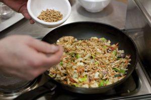 Cuisine gastronomique aux insectes