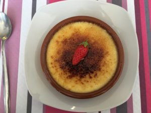 La crème brûlée du restaurant Le Stessie à Landerneau