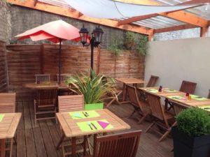 La terrasse du restaurant Le Stessie à Landerneau