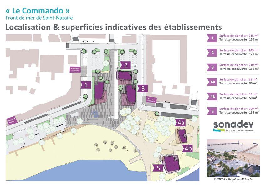 Plan de la place du Commando Saint Nazaire