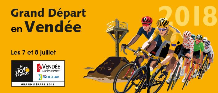 Bannière, Tour de France 2018 en Vendée le 7 et 8 juillet