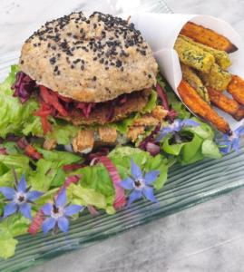 Burgers Toqués : Le Burger Bio Vegetal de Nadege EMERY, finaliste 2018