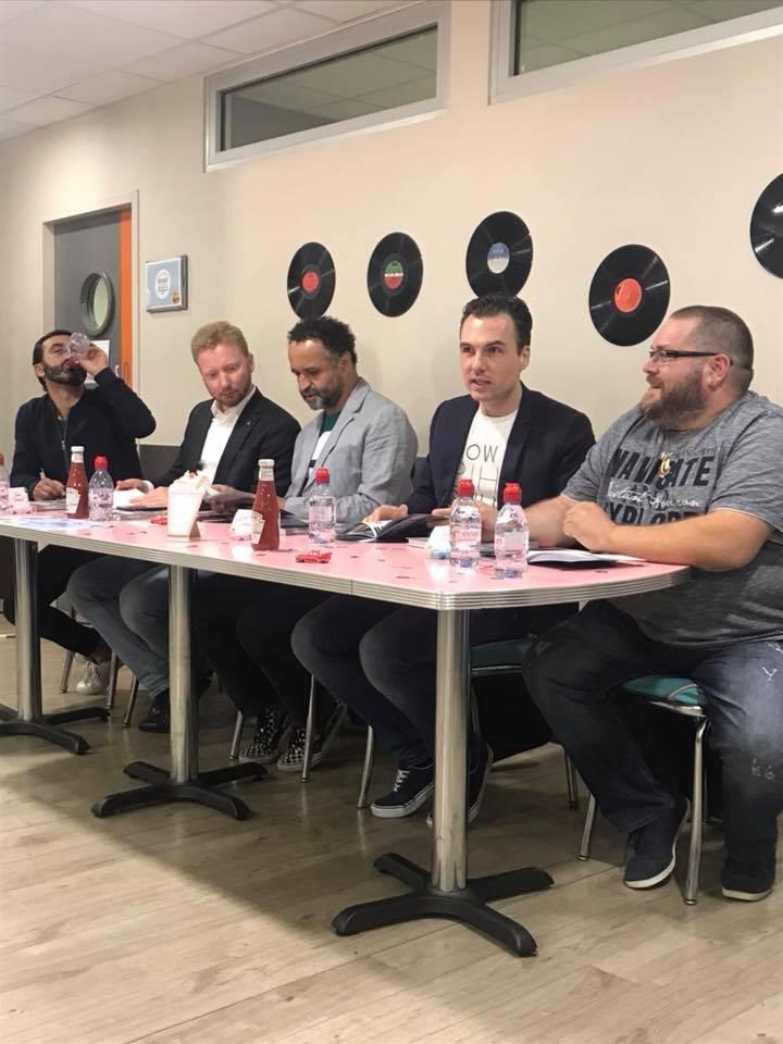 Jury 2018 des Burgers Toqués : Olivier Benkemoun, Kevin Chambenoit, Yannig Samot, Baptiste Cabantous, Sébastien Pernin
