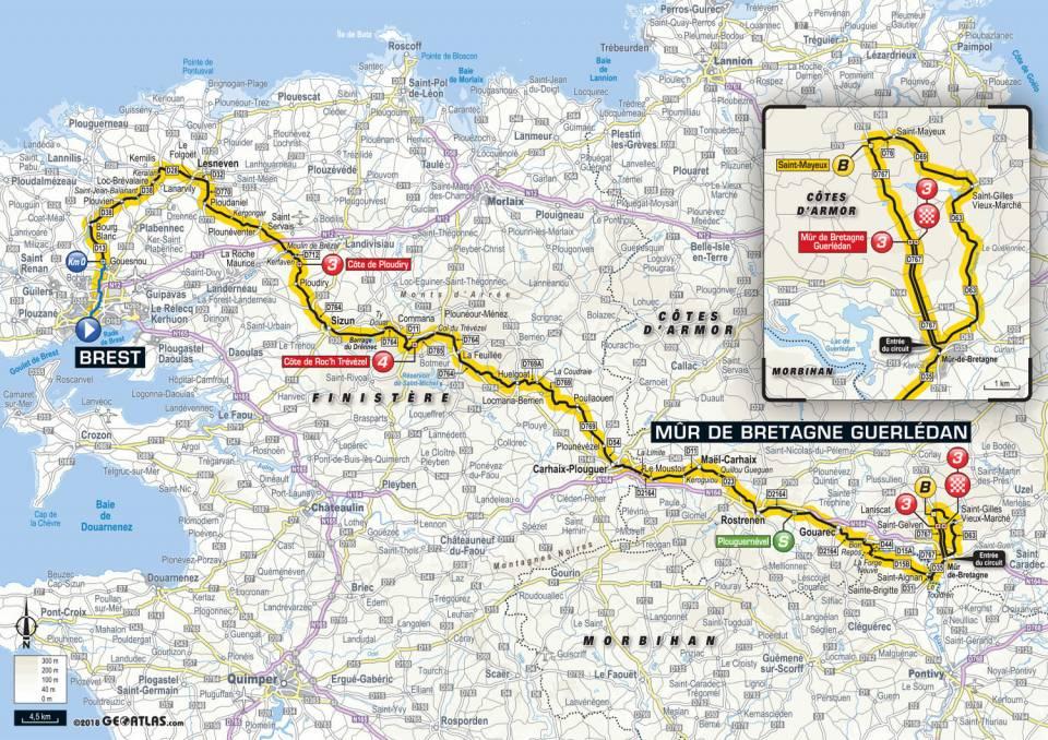 Brest Mûr de Bretagne Tour de France 2018
