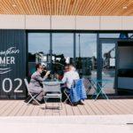 Comptoir de Sapmer à Concarneau dégustation sur la terrasse