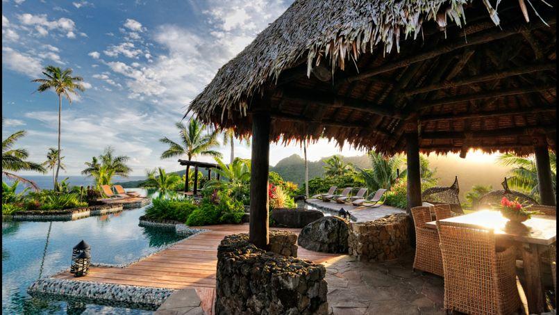 Hôtel de luxe le Laucala Island Resort des Iles Fidji