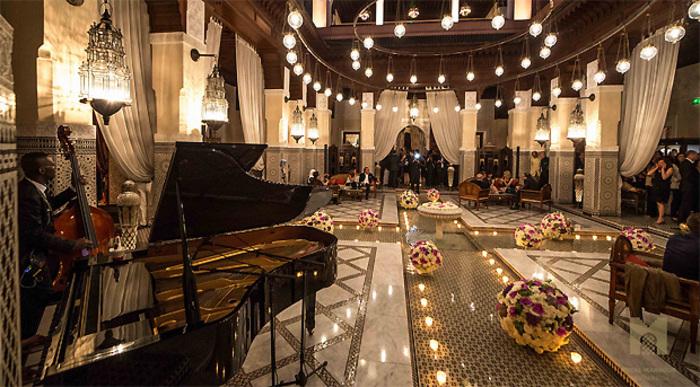 Salon de l'hôtel de luxe le Royal Mansour de Marrakech