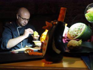 Loïc Martius, champion de France de sculpture sur fruits et légumes