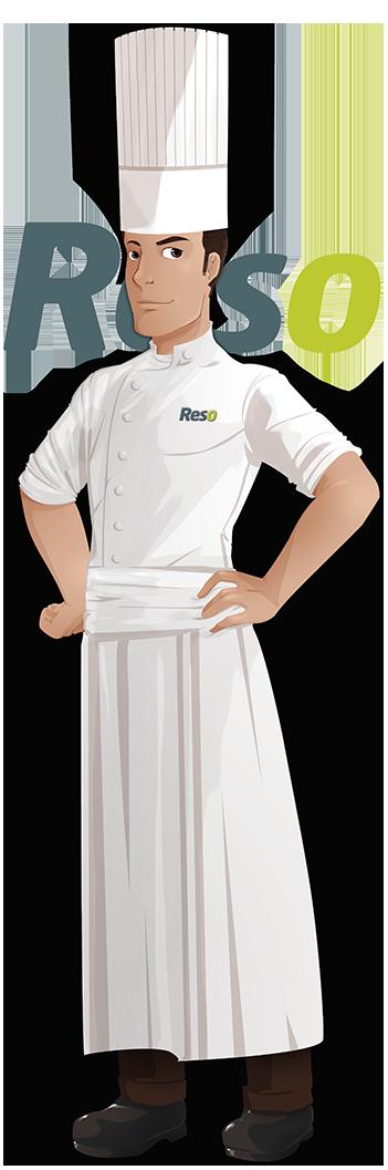 Tenue de travail chef de cuisine homme restaurant