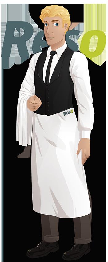 Tenue de travail serveur de restaurant