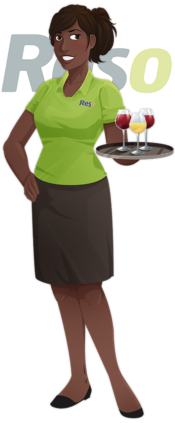 Tenue de travail serveuse de restaurant