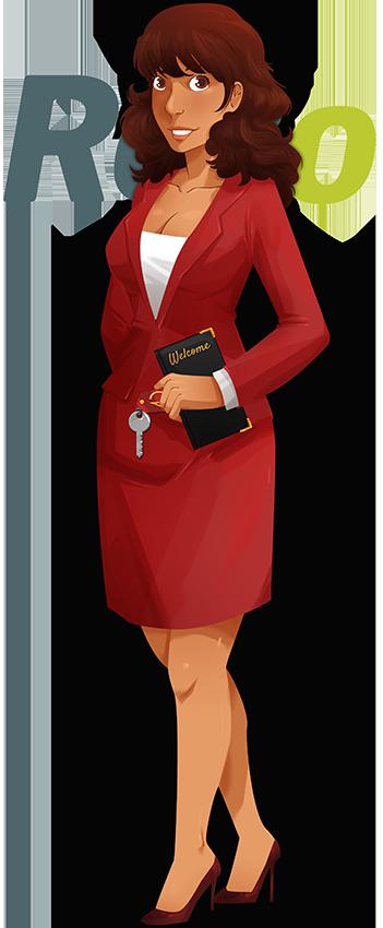 Tenue réceptionniste hôtel femme hôtellerie
