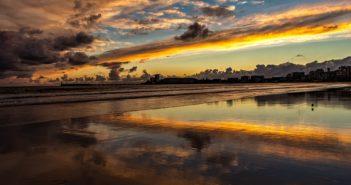 Vendée : Photo d'un couché de soleil sur la mer