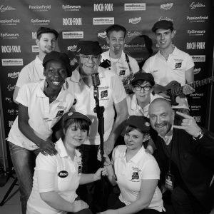 L'équipe de RESO 85 lors de l'édition 2016 du UK on the Rocks en Vendée
