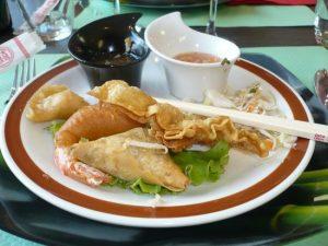 plat asiatique restaurant loctudy