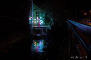 Un parcours lumineux à Pont Aven en Lumière
