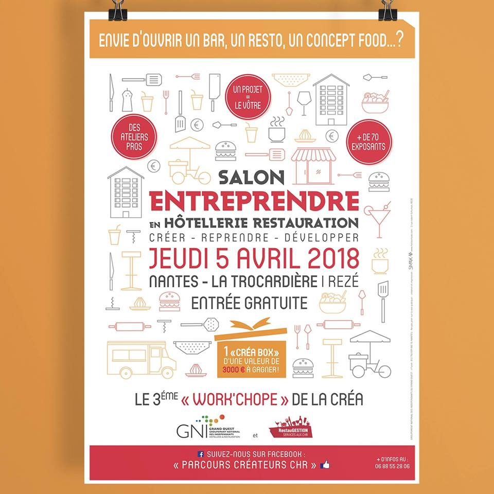 Affiche Salon Entreprendre Hôtellerie Restauration Nantes