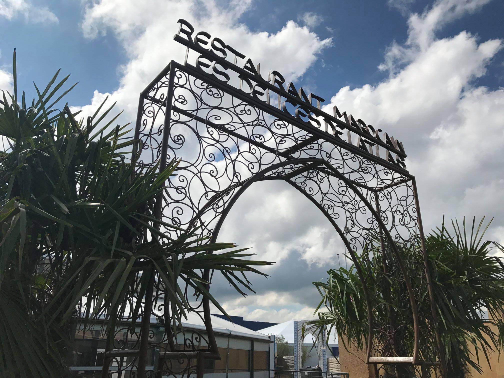 Arche du Restaurant Les Délices de l'Atlas à la Foire de Tours 2018. Source : Page facebook de la Foire de Tours