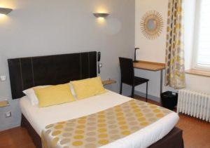 Chambre double confort Hôtel Bellevue à Brest