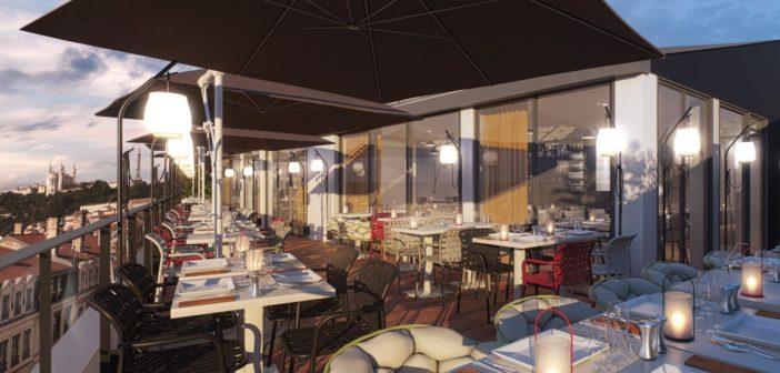 Rooftop restaurant 100 couverts hôtel Lyon