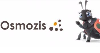 Logo et mascotte de la société Osmozis qui propose une solution de bracelet connecté pour les campings
