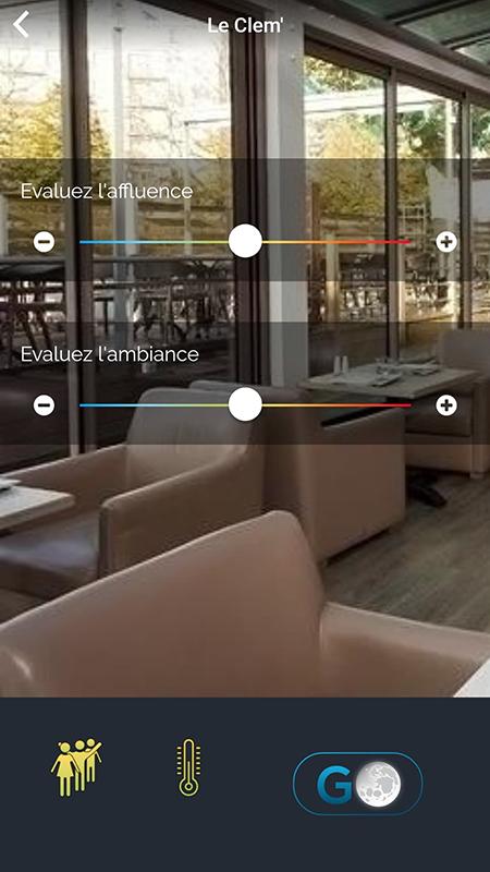 Capture d'écran de l'application Nowego : évaluation Le Clem' (La Roche sur Yon)