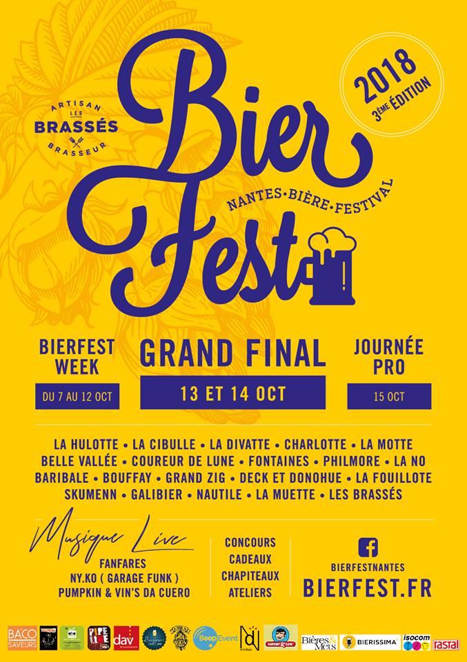 Affiche 2018 du BierFest Nantes - 3ème édition