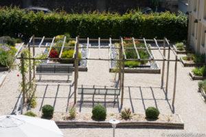 Le jardin de l'Hôtel Ginkgo à Quimper