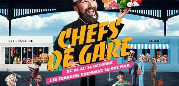 """Affiche de l'événement """"Chefs de Gare"""" 2018"""
