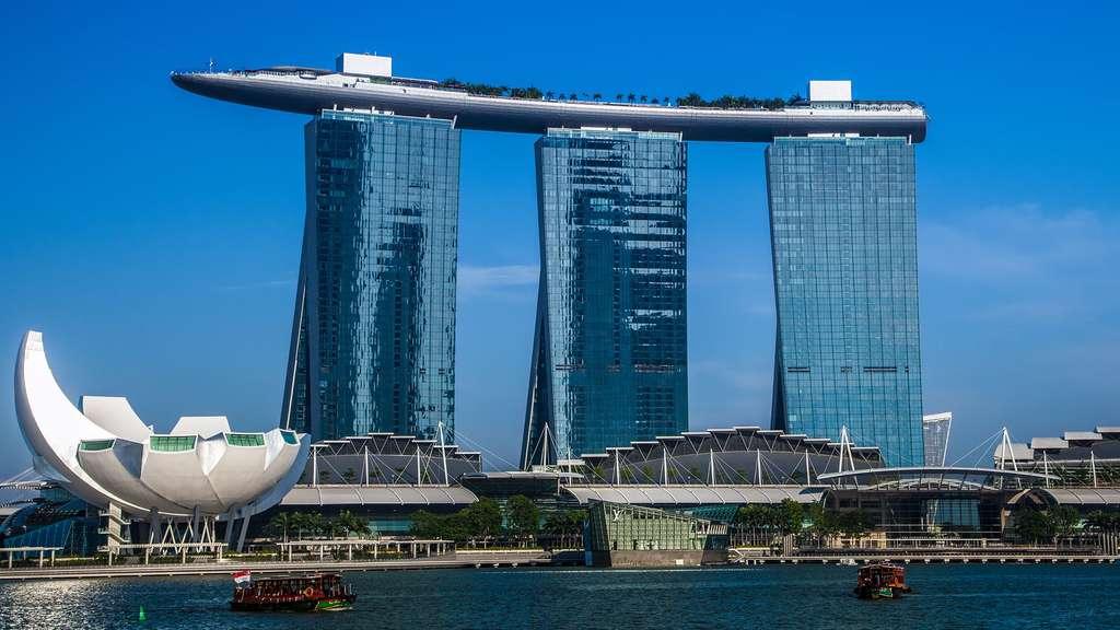 Hôtel de luxe le Marina Bay Sands de Singapour