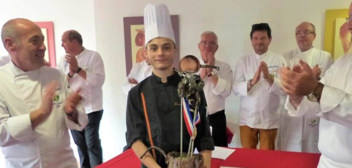 Photo Thomas Guillot, vainqueur de la finale régionale du Meilleur Apprenti Cuisinier de France au CFA de la CCI de la Vienne