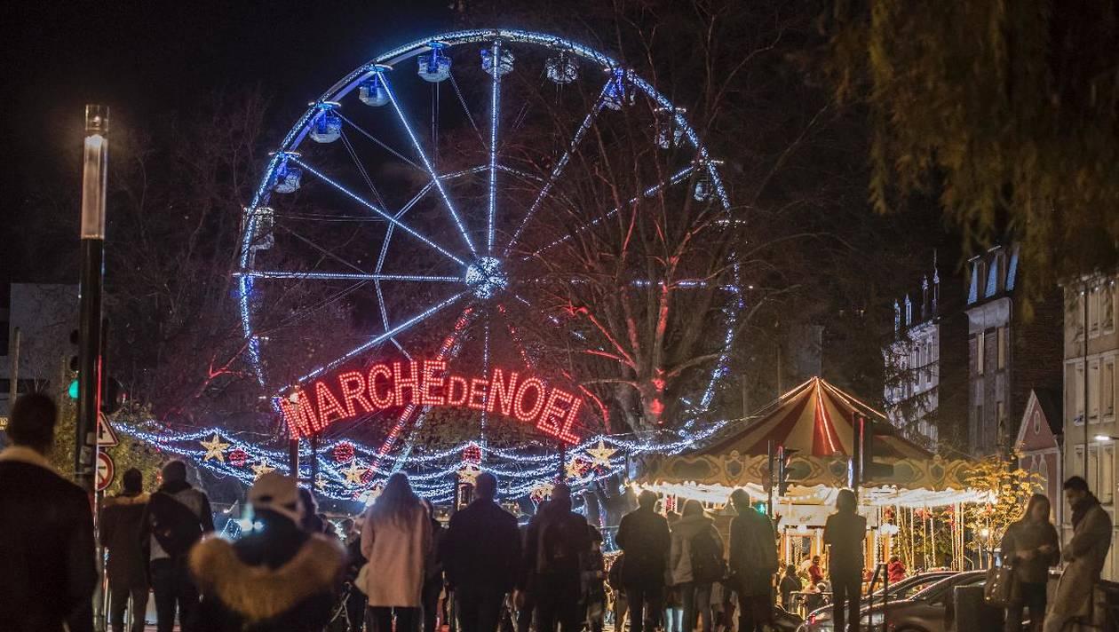 Galettes saucisses marché de Noël de Rennes
