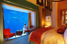 Chambre sous l'eau à Dubaï
