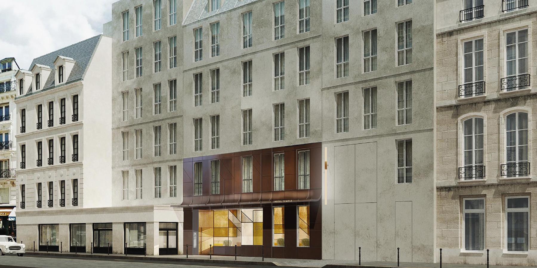 Hôtels Paris : Façade de l'hôtel Sinner