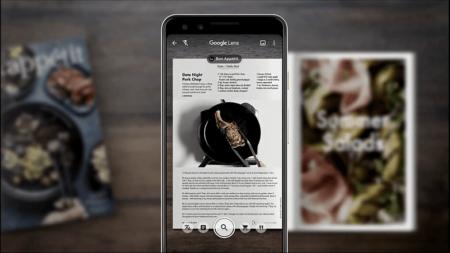 Google lens vous aide à choisir un plat