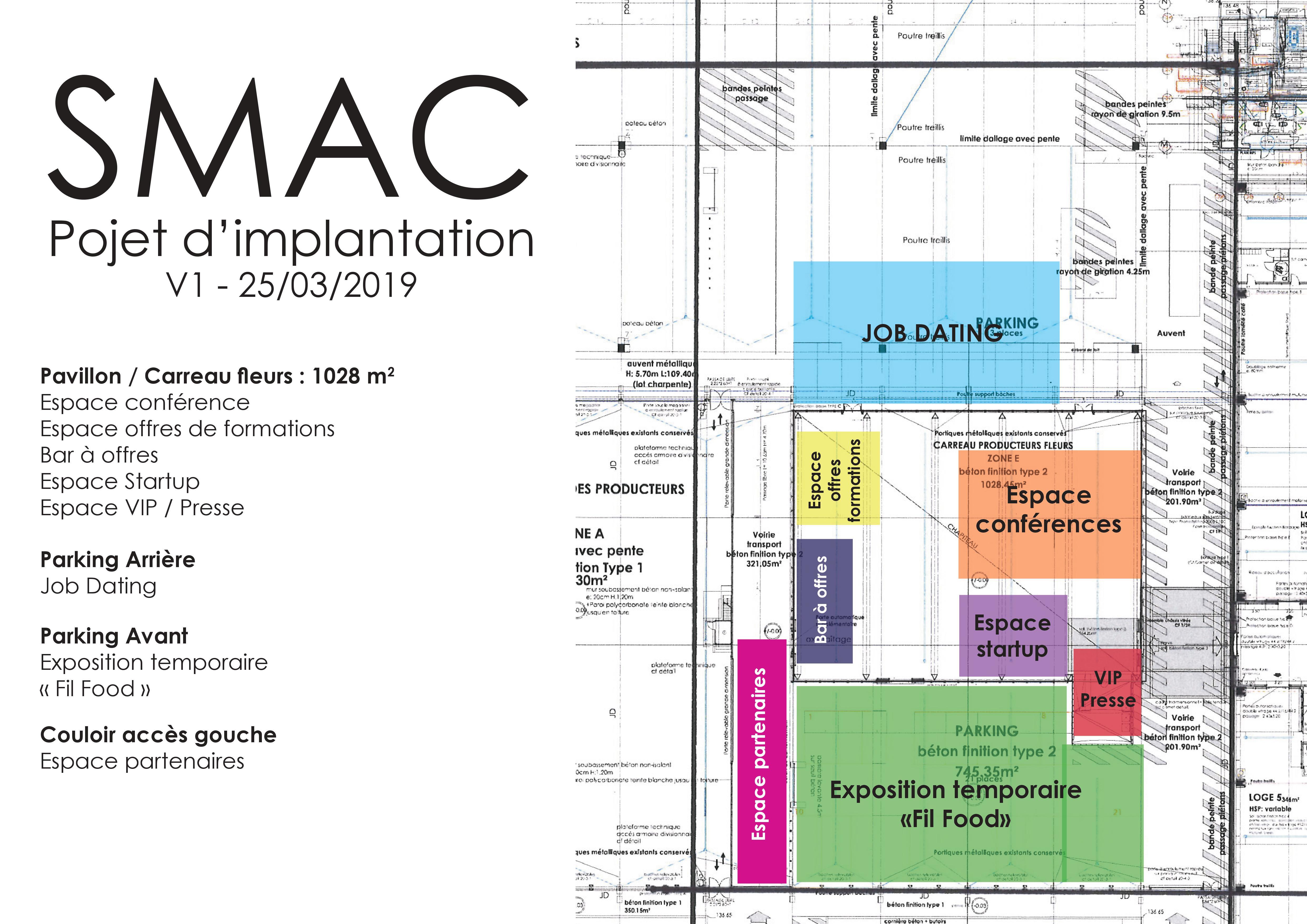 Implantation du salon SMAC