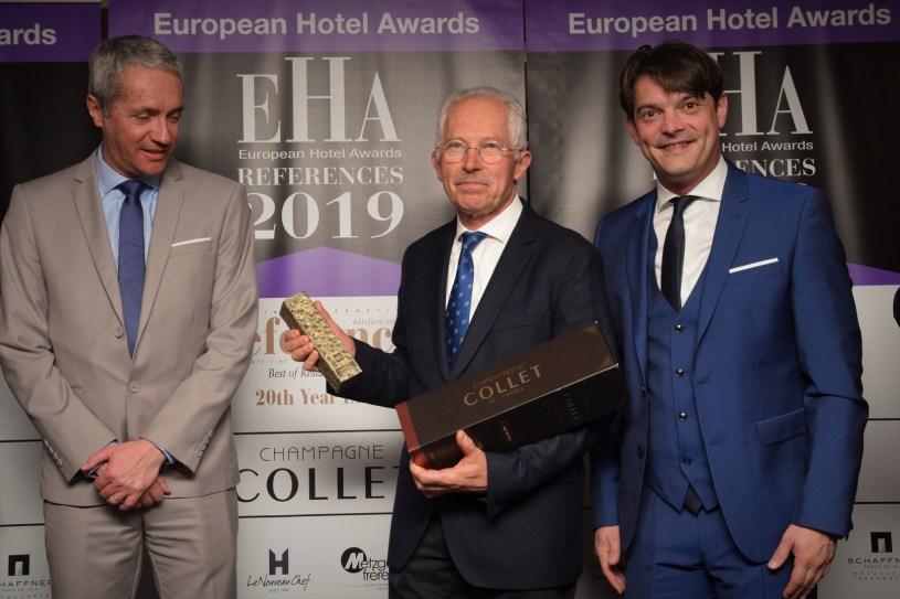 Remise du trophée de la carrière Restaurateur-Hôtelier des European Hotel Awards