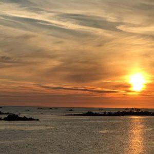 Vue sur mer depuis la Crêperie de la Route des Phares
