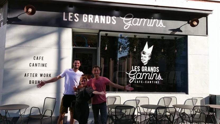 Devanture du restauran les Grands Gamins de Rennes présent au Refugee food festival